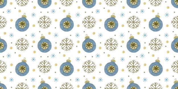 Padrão sem emenda de natal em aquarela fundo de feliz feriado de ano novo