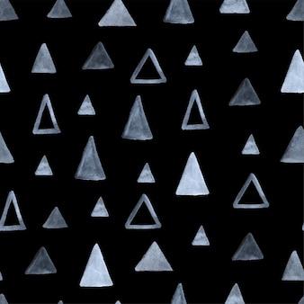 Padrão sem emenda de triângulos em aquarela