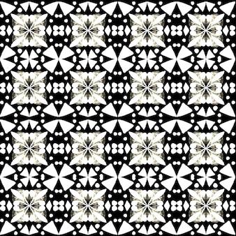 Padrão sem emenda em aquarela de azulejo. azulejos tradicionais portugueses. desenho abstrato. arte em aquarela para têxteis, papel de parede, impressão, design de trajes de banho. padrão de azulejo preto.
