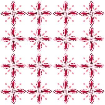Padrão sem emenda em aquarela de azulejo. azulejos tradicionais portugueses. desenho abstrato. arte em aquarela para têxteis, papel de parede, impressão, design de trajes de banho. padrão de azulejo vermelho.
