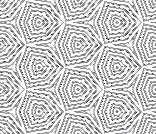 Padrão sem emenda em mosaico. fundo preto caleidoscópio simétrico. design sem emenda do mosaico retro. impressão brilhante em tecido pronto, tecido de biquíni, papel de parede, embrulho.