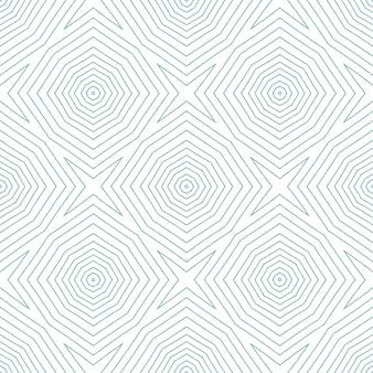 Padrão sem emenda exótico. fundo de caleidoscópio simétrico turquesa. design sem costura exótico de verão swimwear. pronto para têxteis, estampado ideal, tecido de biquíni, papel de parede, embrulho