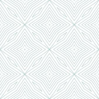 Padrão sem emenda exótico. fundo de caleidoscópio simétrico turquesa. impressão magnética em tecido pronto, tecido de biquíni, papel de parede, embrulho. design sem costura exótico de verão swimwear.