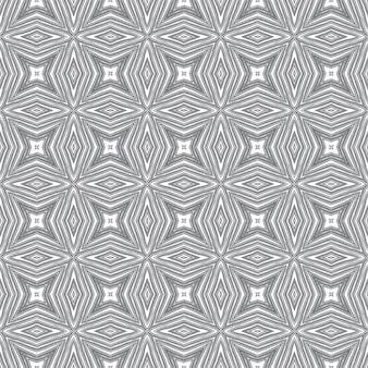 Padrão sem emenda exótico. fundo preto caleidoscópio simétrico. design sem costura exótico de verão swimwear. impressão sublime pronta para têxteis, tecido de biquíni, papel de parede, embrulho.