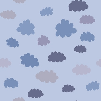 Padrão sem emenda geométrico de nuvens. projeto de plano de fundo do tempo para tecido e decoração. textura para papel de parede, plano de fundo, álbum de recortes. ilustração vetorial