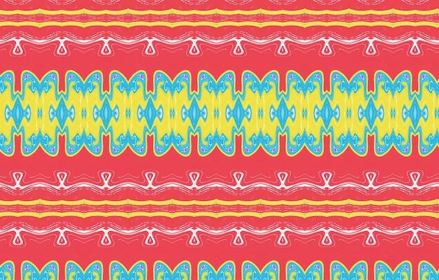 Padrão sem emenda texturizado colorido para design e plano de fundo design de padrão étnico geométrico