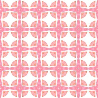 Padrão sem emenda tropical. design de verão chique de boho laranja agradável. borda sem costura tropical desenhada de mão. pronto para têxteis, estampado ideal, tecido de biquíni, papel de parede, embrulho.