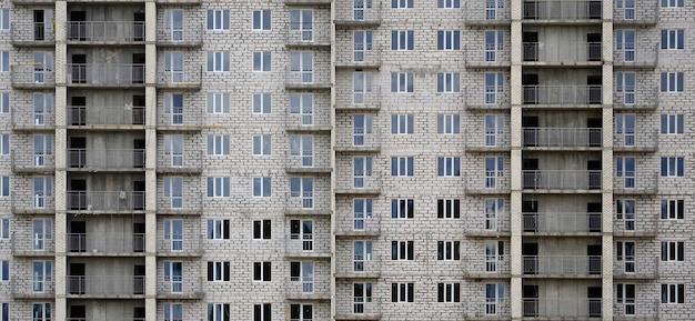 Padrão texturizado de uma casa residencial de whitestone russo