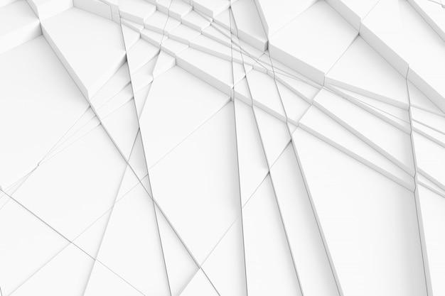 Padrão tridimensional de dissecado em muitos elementos triangulares individuais da superfície