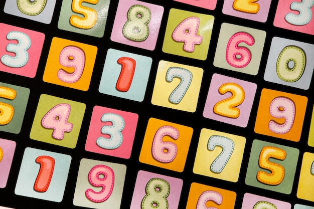 Padrão uniforme com números