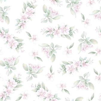 Padrão uniforme. flores delicadas da primavera. impressão digital.