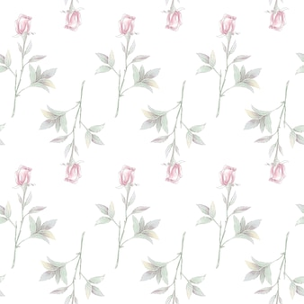 Padrão uniforme. rosas delicadas. para impressão digital.
