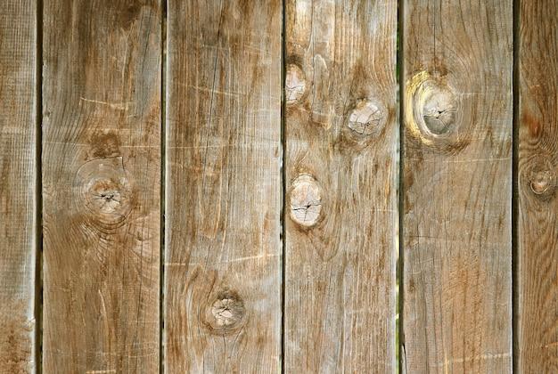 Padrão vertical e textura única da velha cerca de madeira