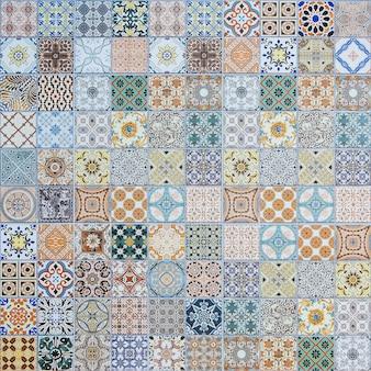 Padrões de azulejos de cerâmica de portugal.