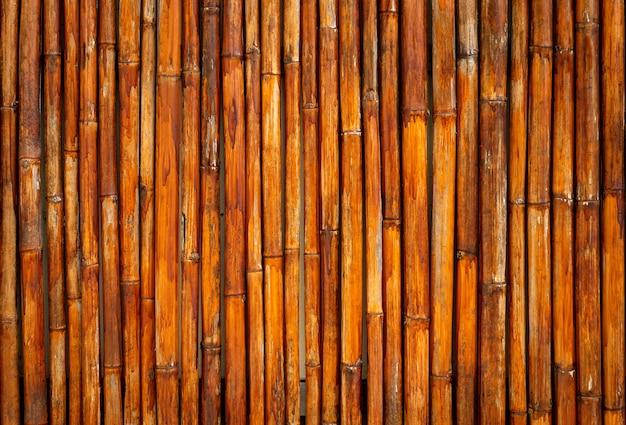 Padrões de backgronuds de textura de bambu amarelo velho de tailândia.