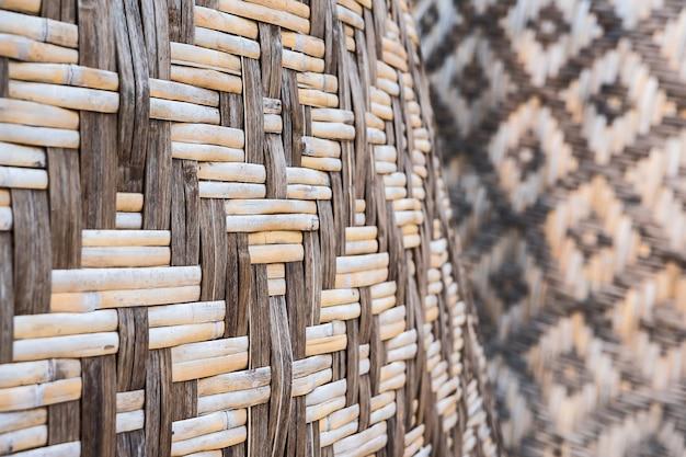 Padrões de bambu texturizado e tecido.