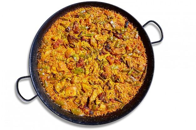 Paella da receita de arroz da espanha