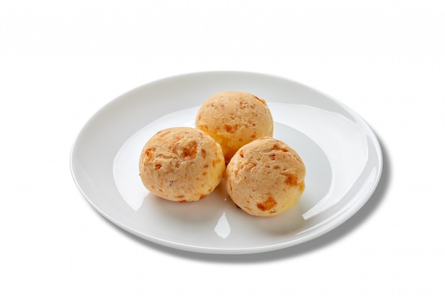 Pães de queijo mineiro no prato,