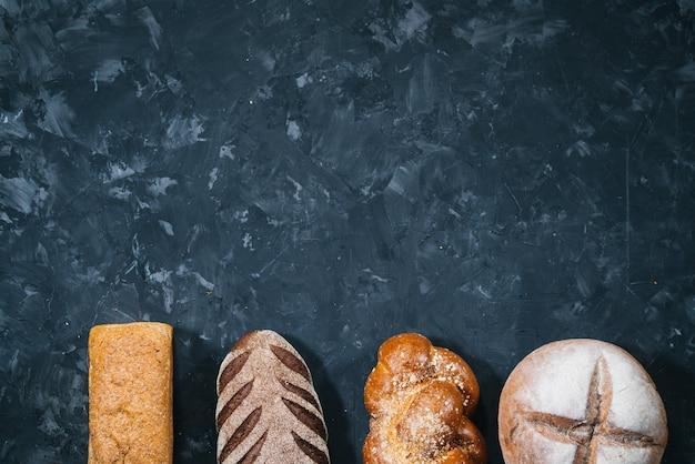 Pães de variedade de pastelaria
