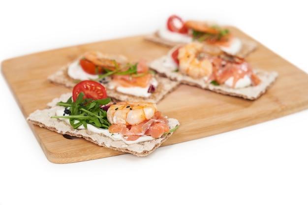 Pães diet com frutos do mar para manutenção do peso