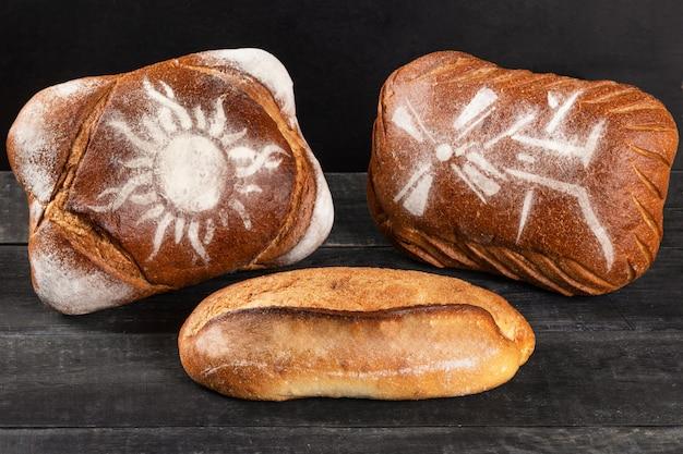 Pães saborosos, pães de perto