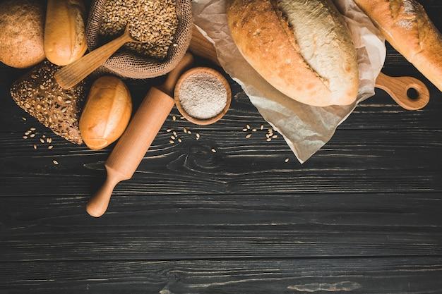 Pães saudáveis de pão dourado