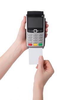 Pagamento com cartão de crédito através do terminal pos