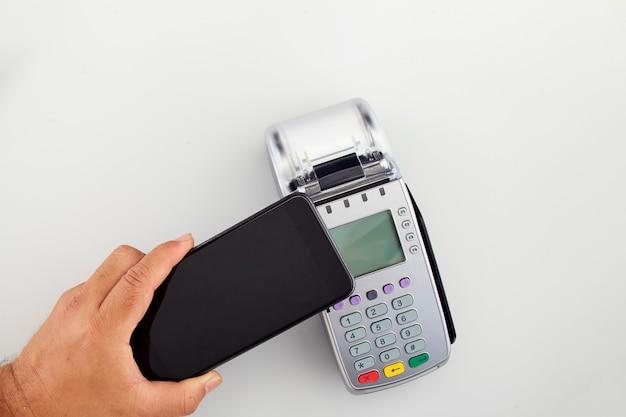 Pagamento móvel, conceito de compras online