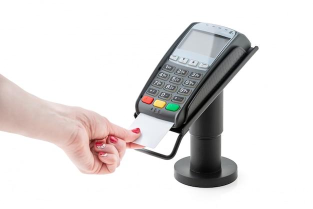 Pagamento por cartão de crédito através do terminal pos