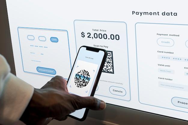 Pagamento sem contato e sem dinheiro por meio de banco móvel