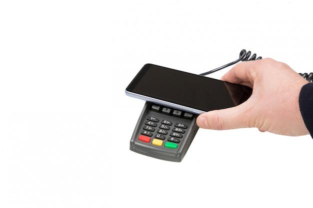 Pagamento sem fio do banco móvel sem fio wifi