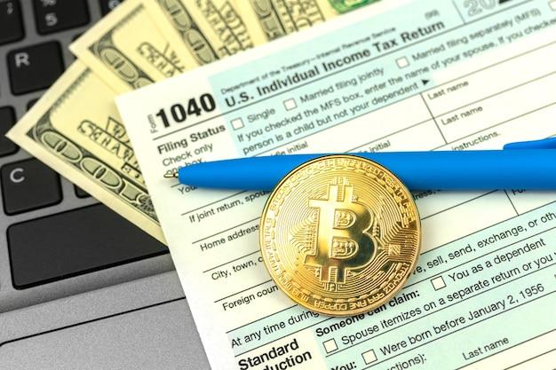 Pagando os impostos por criptomoeda, 1040 us individual income tax return do lado da moeda bitcoin