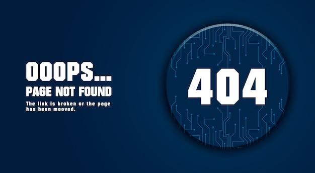 Página de erro 404 não encontrada design 3d
