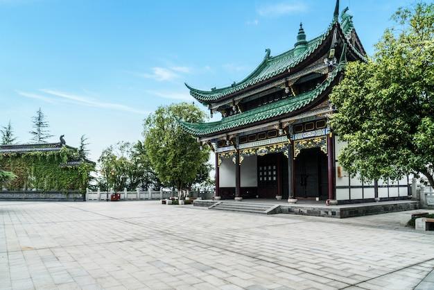 Pagode antigo templo de arquitetura no parque, chongqing, china