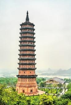 Pagode bai dinh, o maior complexo de templos budistas no vietnã, sudeste da ásia