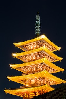Pagode do templo de sensoji tokyo