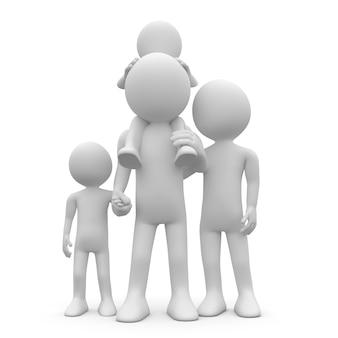 Pai e mãe com seus dois filhos