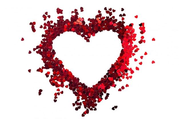 Pailetes em forma de coração