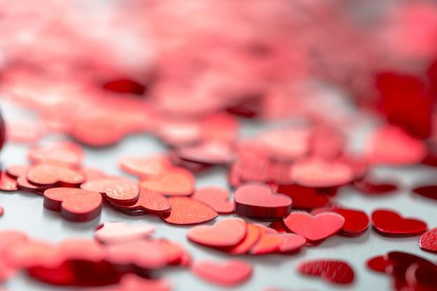 Pailettes em forma de coração