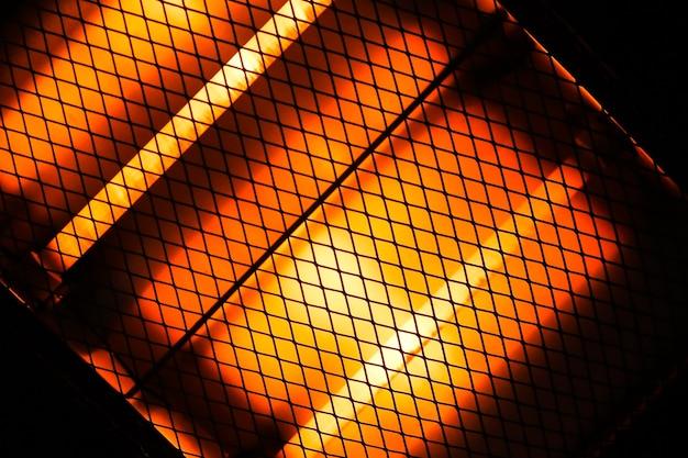 Painéis de aquecimento. avisar luz de fogo. conceito de inverno frio.