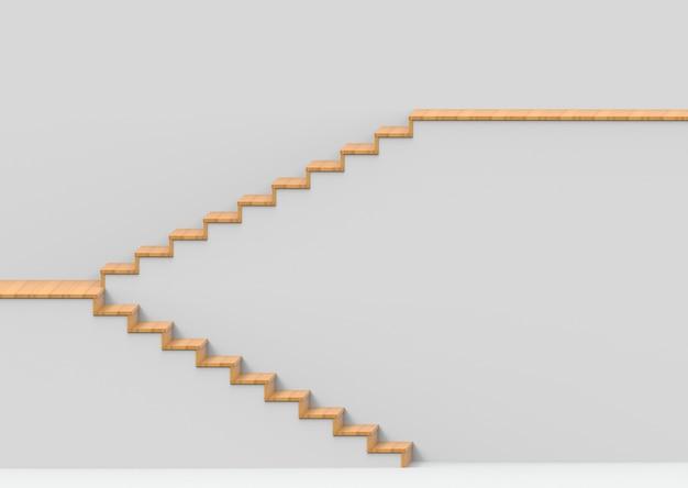 Painéis de madeira no fundo concreto escadas.