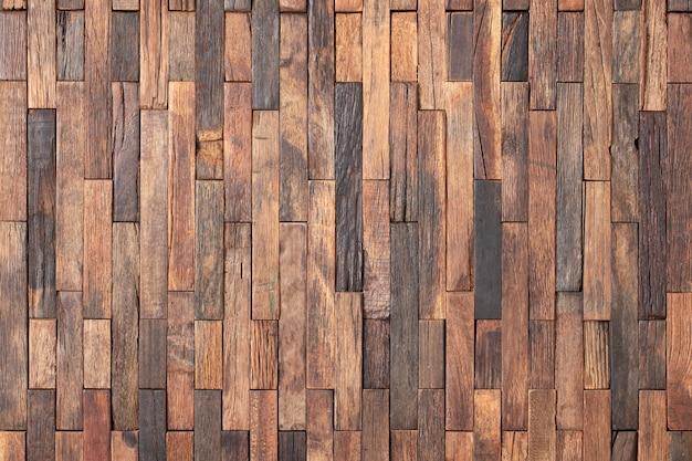 Painéis de parede de textura de madeira rústica, mosaico de pranchas como fundo