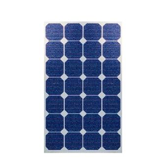 Painéis solares fotovoltaicos em 3d isolados no fundo branco. espaço para texto