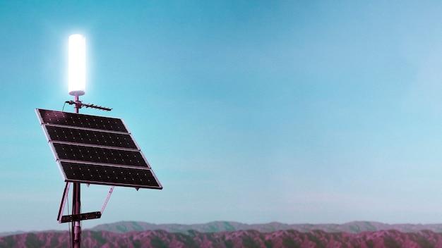 Painéis solares no deserto da califórnia