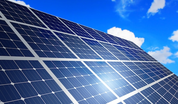 Painéis solares para produzir eletricidade