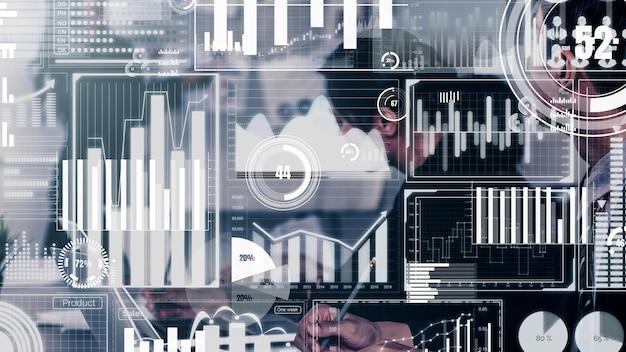 Painel conceitual de negócios para análise de dados financeiros