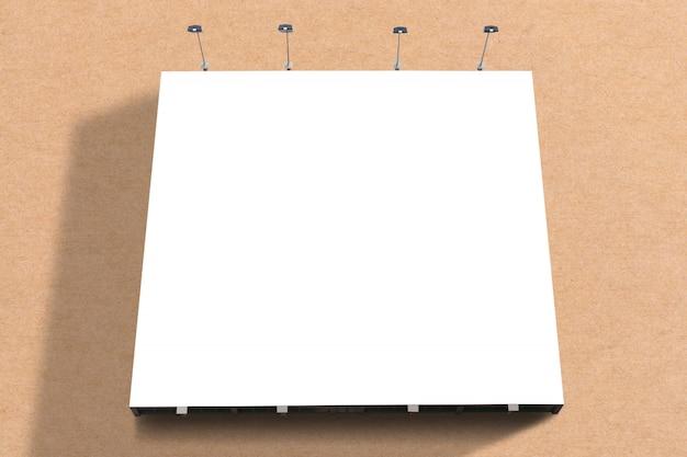 Painel de cartaz em branco anexado em parede com espaço de cópia para sua mensagem de texto ou conteúdo no shopping moderno.