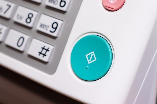 Painel de controle de dispositivo de escritório, fax, impressora, copiadora, etc.