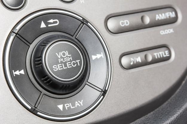 Painel de controle do reprodutor de áudio e outros dispositivos do carro