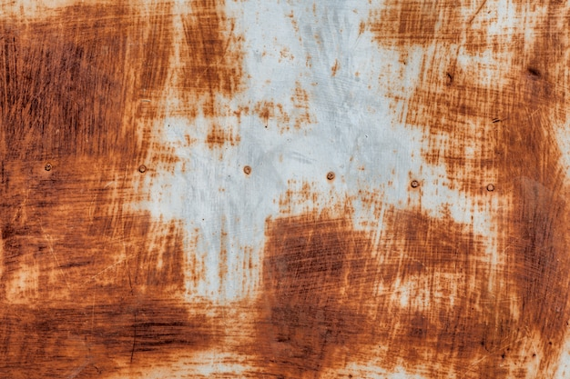 Painel de ferro de metal velho. textura de metal enferrujada. fundo.